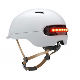 Casco Urbano con LED Smart4U - SH50 Blanco