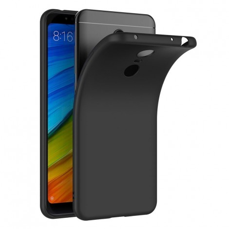 Funda para Xiaomi Redmi 5 Plus Silicona Negra - MiCanarias